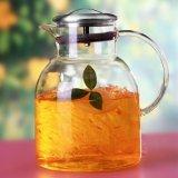 Personalizzare la brocca di vetro del tè del tè di marchio del POT della bevanda della brocca stabilita di vetro del tè con Infuser