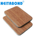 Neitabond Textura de madera de 3mm ACP Panel de revestimiento de pared para decorar