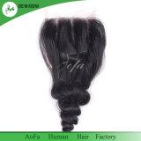 2018 Double tiré les Cheveux humains indiens Remy Hair fermeture