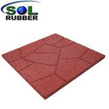 Borracha reciclada durável Antiderrapagem Pavimentadora de piso