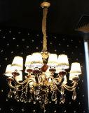 Iluminación casera pendiente moderna con la cortina de la tela