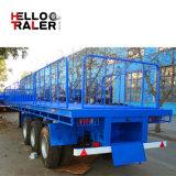 Aantrekkelijke Prijs 2/3/4/5 van de Vervaardiging van China Semi Aanhangwagen van het Bed van de Ton van Assen 50/60/80/100 de Vlakke