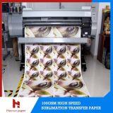100GSM ayunan talla de alta velocidad seca del rodillo del papel de traspaso térmico de la sublimación para la impresión de materia textil