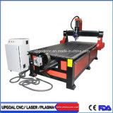 1300*2500mm 4*8 pés 4 Axis fresadora CNC de trabalho da madeira com embaixo do eixo rotativo