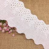 Nouveau design de broderie de fleurs dentelle de coton pour vêtements d'enfants