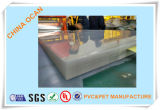 hoja rígida el 100cm*70cm clara del PVC de 0.38m m para la impresión del Silk-Screen