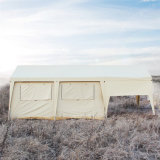 خارجيّة رف قطر نوع خيش أسرة يخيّم سفريّ خيمة مع ظلة أماميّة
