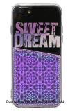 Caja ULTRAVIOLETA del teléfono de la impresión del diseño brillante con el bolsillo para el iPhone