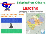 Services d'expédition de l'air de la Chine au Lesotho
