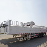 3 Wellen-Zaun-Schlussteil-schwerer Transport-Ladung-Zaun-halb Schlussteil-hoher seitlicher Zaun-LKW-Schlussteil mit Transportwagen-Flachbett-Schlussteil