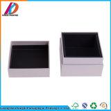 Weißes Quadrat-Papppapier-Kappe und niedriger Kasten für Kosmetik