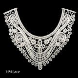 Collare floreale del merletto del poliestere del reticolo di Guangzhou per la signora Dress X032
