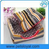 Fabricante amarelo da casa do gato do filhote de cachorro do cão da base do animal de estimação da tela