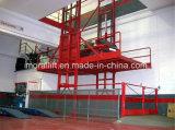 Une lourde charge Cargo Rail de guidage vertical de relevage hydraulique