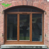 Grande Casa Europeia Instale a janela de madeira revestido de alumínio com baixa-E VIDRO com gás argônio entre a janela de madeira de alumínio