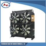 Radiador de aluminio modificado para requisitos particulares serie de la refrigeración por agua de Bh12V190-1360/(z) Td10d Jichai
