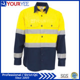 Chemises de travail personnalisé avec bandes réfléchissantes de retour (d'aération YWS119)