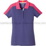 T-shirt bon marché en gros de polo de femmes de mode (ELTWPJ-501)