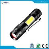 Jff59 Batterie AA/14500 Zoom Stretch COB Mini Lampe torche de feu latéral