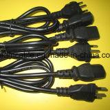 шнур питания AC 1.5m черный 2pin Inmetro с IEC C7