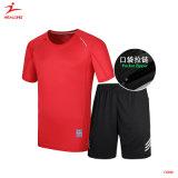 Healong 젊음 스포츠는 공백 디자인 다양성 색깔을%s 가진 건조한 적합 남자 스포츠 제복을 착용한다