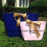 Foldable 관례에 의하여 인쇄되는 선전용 소매 선물 여자 서류상 쇼핑 백