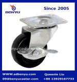가벼운 의무 조정 유형 검정 고무 피마자 바퀴