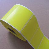 Volumen de encargo etiqueta de color amarillo brillante