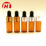 Frascos de vidro âmbar de óleo essencial com conta-gotas