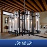 Lâmpada artística do pendente do candelabro da câmara de ar de vidro de projeto moderno para a sala de visitas