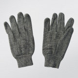 10oz het grijze Koord breit Katoenen Werkende Handschoen--2103