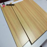 Look PVDF de bois décoratifs en aluminium panneau composite