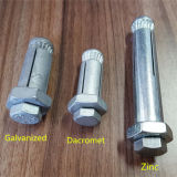 Dacromet/гальванизированный цинком покрынный анкерный болт расширения