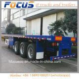 Los vehículos Focus - 40ft 3Contenedor de superficie plana del eje semi remolque