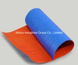 La bâche de protection en polyéthylène de tissus bleu / PE Toile bâches/ PE / rouleau pour couvrir la feuille