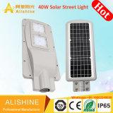 Все в одном интегрированном наружного освещения 40Вт Светодиодные лампы на улице солнечной энергии (SSL-аль-RL40)