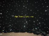 Tuch-Hintergrund-Samt des weißes Licht-Stern-Vorhang-LED für Hochzeitsfest-Disco