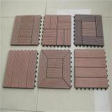 Plancher composé en plastique en bois d'intérieur de Decking de DIY WPC