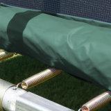 [148فت] مستطيلة اللون الأخضر 4 ساق [ترمبولين] مع أمان إحاطة