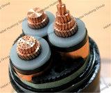 Isolierungs-Stahldraht-oder Stahl-Band-gepanzertes Tiefbauenergien-Kabel des Kupfer-11kv oder des Aluminiums des Leiter-XLPE