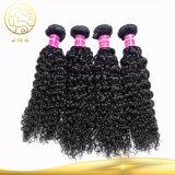 安い巻き毛の波のブラジルのバージンの黒の人間の毛髪の織り方