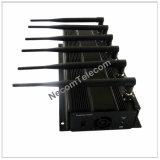 2015の最も新しくより安く、普及したデスクトップGPSの携帯電話のシグナルの盾のシグナルのブロッカーシグナルの妨害機、高品質のLojack/WiFi/4G/GPS/VHF/UHFの妨害機