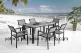 Competive Price Top Selling Outdoor Garden Aluminium + PS-Ensemble de meubles en bois par chaise et table (YT386)