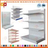 鋼鉄単一の味方された背部穴の表示棚付けのスーパーマーケットの棚(Zhs130)