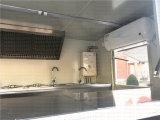 Vagón restaurante del filete con el fabricante del carro de Gelato de la parada de la hamburguesa de las ruedas