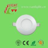 3W는 백색 LED 둥근 위원회 램프를 냉각한다
