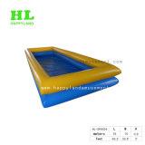 組合せの青および黄色カラー膨脹可能な水プール