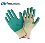 Van het Katoenen van de hoogste Kwaliteit 10g Handschoenen van het Werk van de Kreuk Latex van de Voering de Palm Met een laag bedekte met En388 3142X