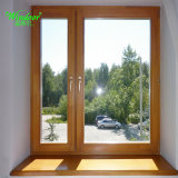 Perfil de dos colores de la ventana de PVC de coextrusión, fuera de madera color dentro de la ventana de PVC de color blanco