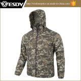 Chemise respirable ultra-mince de peau de la chemise des hommes extérieurs d'Esdy